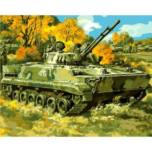 """Картины по номерам, раскраска холст """"Военная техника ..."""