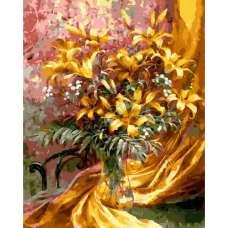 """Картина по номерам раскраска """"Желтые лилии"""""""