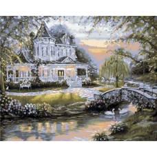 "Картина по номерам раскраска ""Замок у реки"""