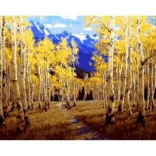 "Картина по номерам раскраска ""Осенний лес"""
