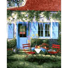 "Картина по номерам раскраска ""У дома"""