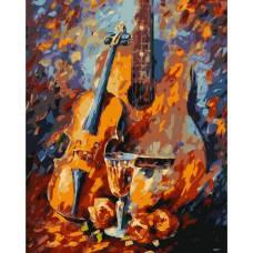 """Картина по номерам раскраска """"Гитара и виолончель"""""""