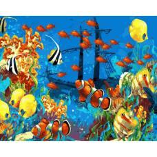 """Картина по номерам раскраска """"Подводный мир"""""""
