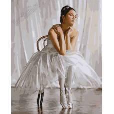 "Картина по номерам раскраска ""Балерина на стуле"""