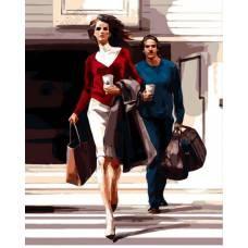 "Картина по номерам раскраска ""Он и она"""