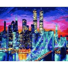 """Картина по номерам раскраска """"Манхэттен"""""""
