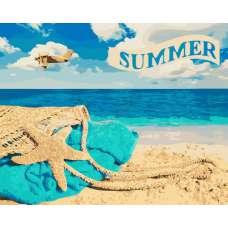 """Картина по номерам раскраска """"Лето, пляж"""""""