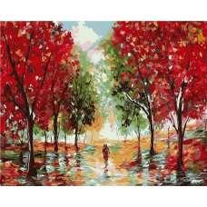"Картина по номерам раскраска ""Осенняя прогулка"""