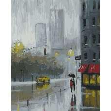 """Картина по номерам раскраска """"Дождь в мегаполисе"""""""