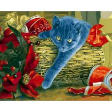 """Картина по номерам раскраска """"Взгляд кошки"""""""