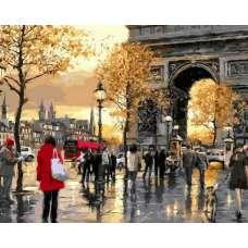 """Картина по номерам раскраска """"Триумфальная арка"""""""