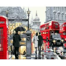 """Картина по номерам раскраска """"Подземка Лондона"""""""