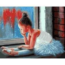 """Картина по номерам раскраска """"Маленькая балерина"""""""
