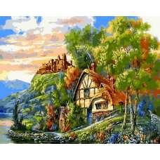"""Картина по номерам раскраска """"Замок на холме"""""""