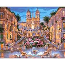 """Картина по номерам раскраска """"Испанская лестница"""""""