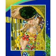 """Картина по номерам раскраска """"Поцелуй"""""""