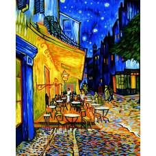 """Картина по номерам раскраска """"Ночное кафе"""""""