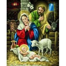 "Картина по номерам раскраска ""Рождение Христа"""