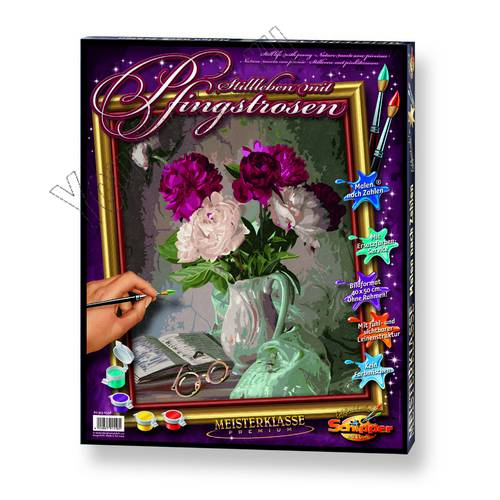 """Картины по номерам, раскраска холст """"Пионы в вазе"""" дешево ..."""