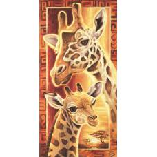 "Картина по номерам раскраска ""Жирафы"""