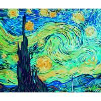 """Картина по номерам раскраска """"Звездная ночь"""""""