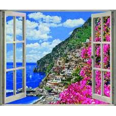"""Картина по номерам раскраска """"На Амальфийском побережье"""""""