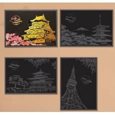 """Скретч картина """"Японская вишня"""""""