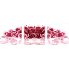 """Триптих по номерам на холсте """"Букет роз"""""""